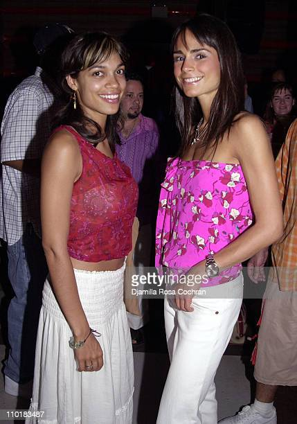 Rosario Dawson and Jordana Brewster during 4th Year Kickoff Party for The Truth National Smoking Prevention Campaign at Cielo Club in New York City...