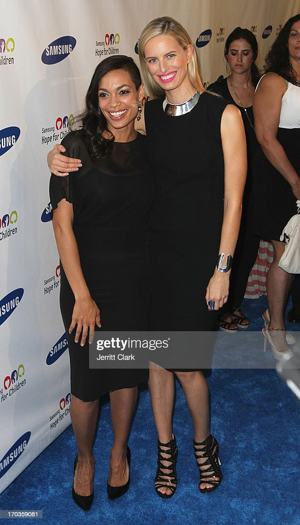 Rosario Dawson and Karolina Kurkova attends Samsung Hope For Children 12th Annual Gala at Cipriani Wall Street on June 11, 2013 in New York City.