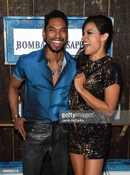 Rosario Dawson and Miguel attend The 6th Annual Bombay Sapphire Artisan Series Grand Finale Cohosted By Russell Simmons And Rosario Dawson During Art...