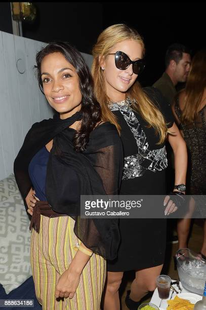 Rosario Dawson and Paris Hilton attend Rosario Dawson Hosts The Launch Of Photo Butler At Art Basel With Anna Rothschild And Claudine De Niro at Soho...