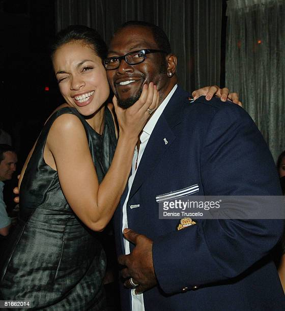 Rosario Dawson and Randy Jackson celebrate Randy's Birthday at Tao Las Vegas on June 21 2008 in Las Vegas USA in Las Vegas Nevada