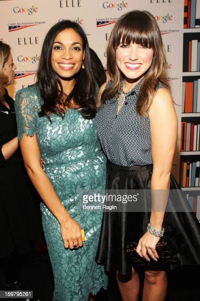 Rosario Dawson and Sophia Bush attend a celebration for leading women in Washington hosted by GOOGLE ELLE and The Center for American Progress on...