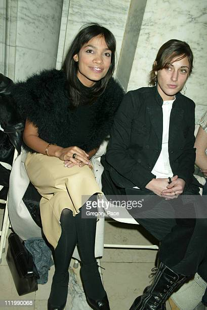 Rosario Dawson and Summer Phoenix during Jill Stuart 2003 Fall Collection attendees at Astor Hall NY Public Library in New York NY United States