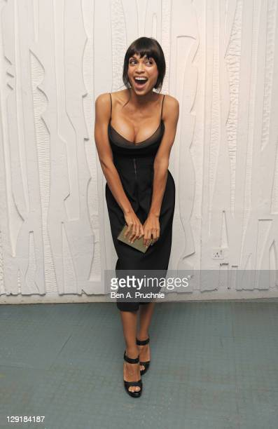 Rosario Dawson arrives at the Calvin Klein Collection Dinner to Celebrate the new home of London's Design Museum at The Design Museum on October 13...