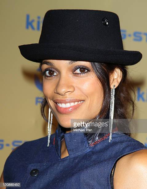 Rosario Dawson arrives at the GStar 'Women's Night' shopping event held at Kitson on Roberston on August 11 2011 in Beverly Hills California
