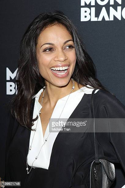Rosario Dawson arrives at the Montblanc pre-Oscar brunch celebrating Princesse Grace De Monaco Collection held at Bel Air Hotel on February 25, 2012...