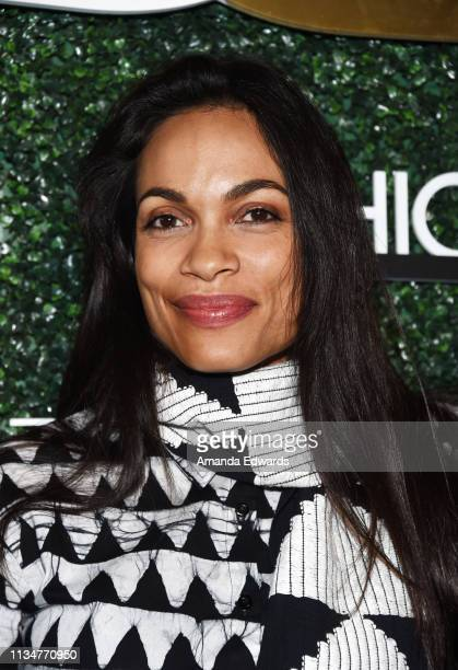 Rosario Dawson arrives at the The Diaspora Dialogues International Women Of Power Luncheon presented by Koshie Mills at the Marriott Hotel Marina Del...