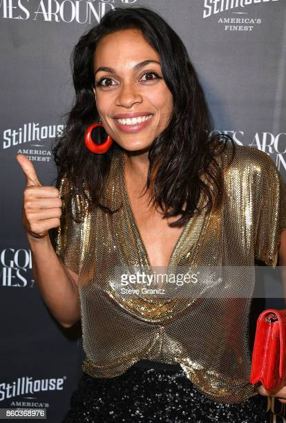 Rosario Dawson arrives at the What Goes Around Comes Around One Year Anniversary at What Goes Around Comes Around on October 11 2017 in Beverly Hills...