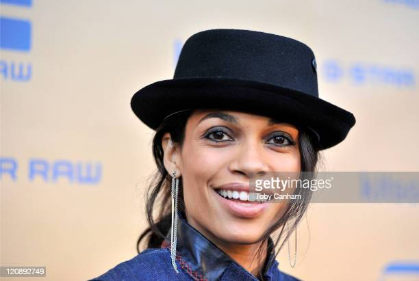 Rosario Dawson arrives for the GStar 'Womans Night' hosted by Rosario Dawson at Kitson studio on August 11 2011 in Los Angeles California