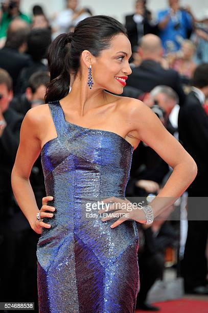 Rosario Dawson at the premiere of 'Les BienAimes' Premiere and Closing Ceremony Arrivals during the 64th Cannes International Film Festival