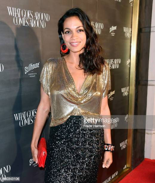 Rosario Dawson at What Goes Around Comes Around on October 11 2017 in Beverly Hills California