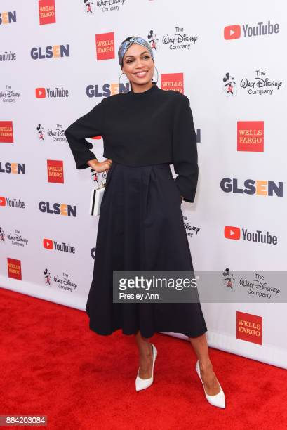 Rosario Dawson attends 2017 GLSEN Respect Awards Arrivals at the Beverly Wilshire Four Seasons Hotel on October 20 2017 in Beverly Hills California