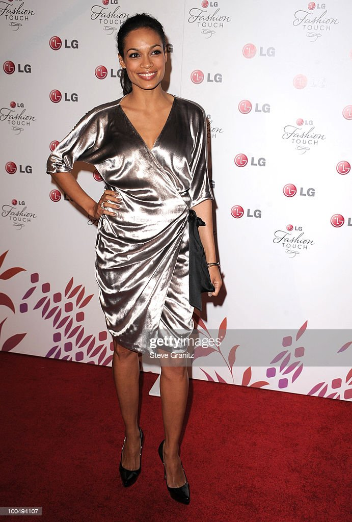 Rosario Dawson attends A Night Of Fashion & Technology With LG Mobile Phones Hosted By Victoria Beckham & Eva Longoria at Soho House on May 24, 2010 in West Hollywood, California.