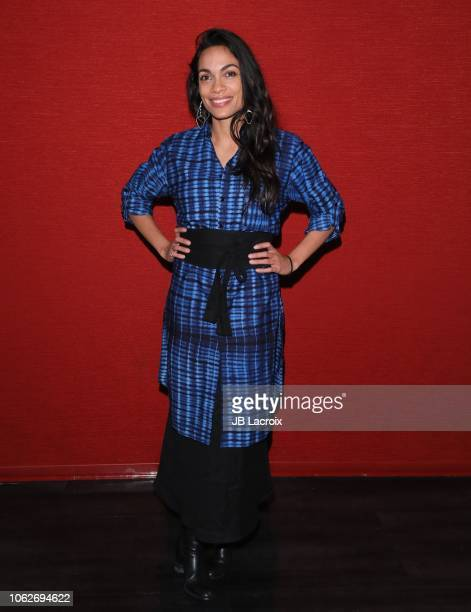 Rosario Dawson attends a photo call for Trust Machine The Story Of Blockchain on November 16 2018 in Los Angeles California