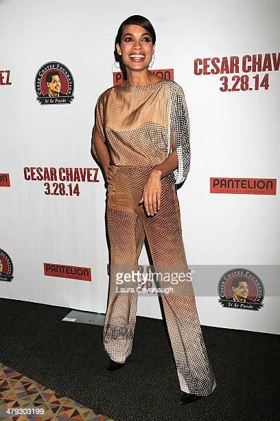 Rosario Dawson attends a screening of 'Cesar Chavez' at AMC Empire on March 17 2014 in New York City