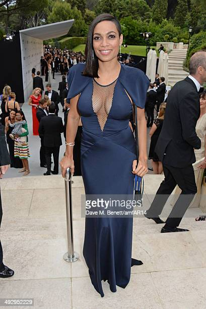 Rosario Dawson attends amfAR's 21st Cinema Against AIDS Gala presented by WORLDVIEW BOLD FILMS and BVLGARI at Hotel du CapEdenRoc on May 22 2014 in...