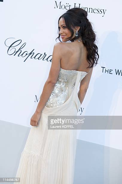 Rosario Dawson attends amfAR's Cinema Against AIDS Gala during the 64th Annual Cannes Film Festival at Hotel Du Cap on May 19 2011 in Antibes France