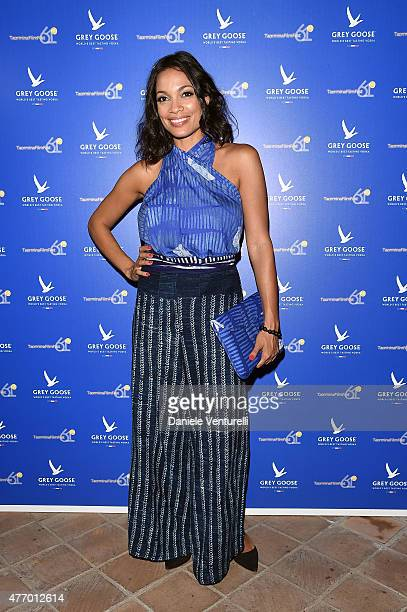 Rosario Dawson attends Day 1 of the 61th Taormina Film Fest on June 13 2015 in Taormina Italy