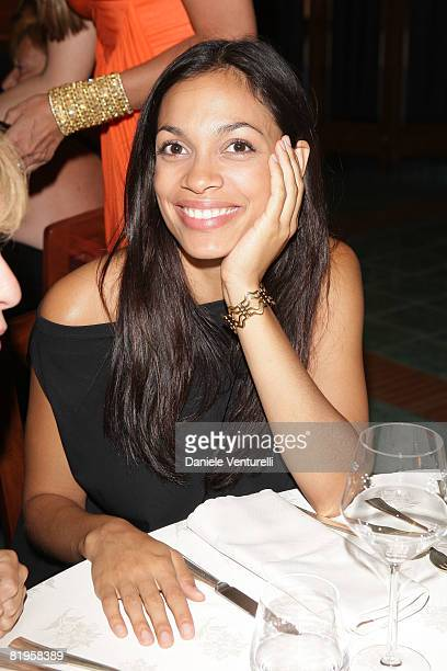 SALES* Rosario Dawson attends day one of the Ischia Global Film and Music Festival on July 16 2008 in Ischia Italy