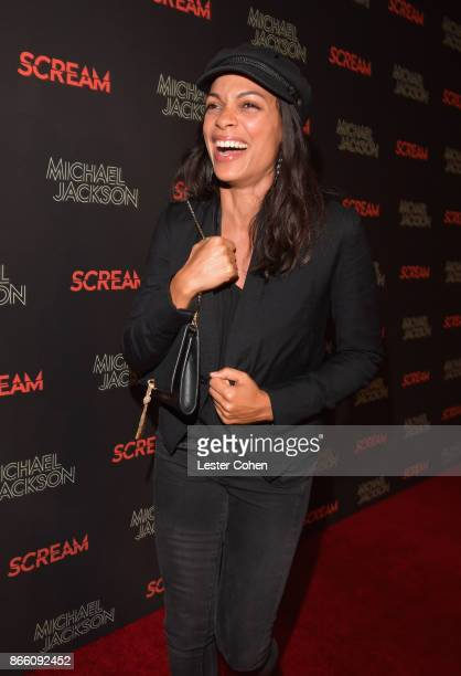 Rosario Dawson attends Michael Jackson Scream Album Halloween Takeover at TCL Chinese 6 Theatres on October 24 2017 in Hollywood California