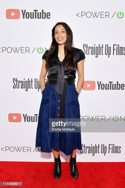 Rosario Dawson attends Power On Premiere By Straight Up Films With Support From YouTube at Google Playa Vista Office on April 24 2019 in Playa Vista...