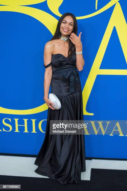 Rosario Dawson attends the 2018 CFDA Fashion Awards at Brooklyn Museum on June 4 2018 in New York City