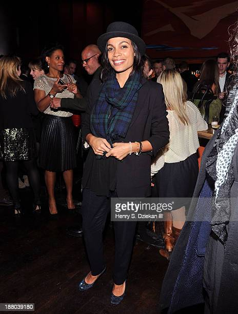 Rosario Dawson attends the after party for the New York premiere of Mandela Long Walk to Freedom hosted by The Weinstein Company Yucaipa Films...