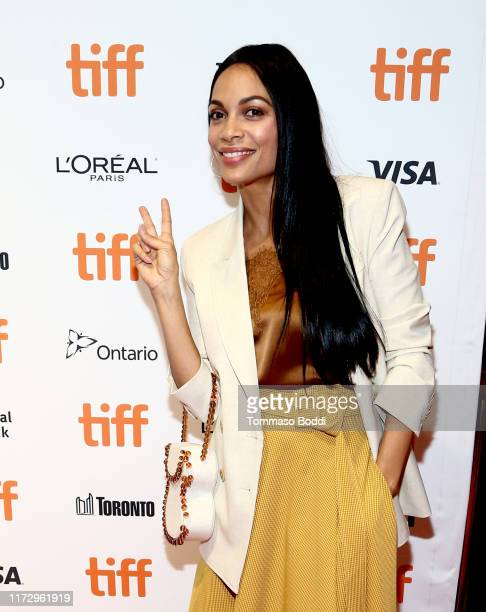 Rosario Dawson attends the Briarpatch premiere during the 2019 Toronto International Film Festival at TIFF Bell Lightbox on September 07 2019 in...