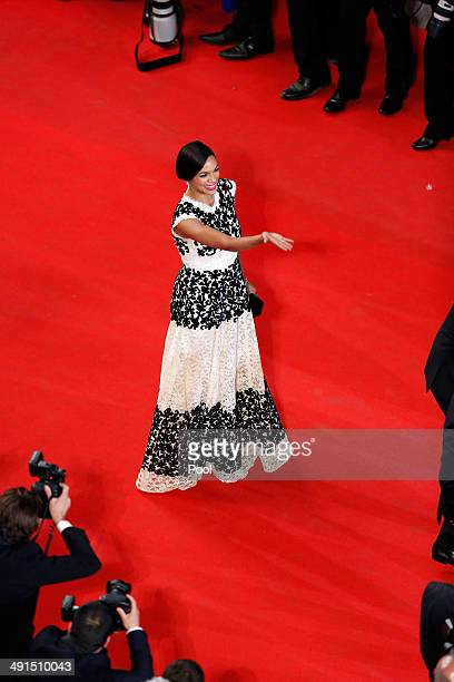 Rosario Dawson attends the 'Captives' premiere during the 67th Annual Cannes Film Festival on May 16 2014 in Cannes France