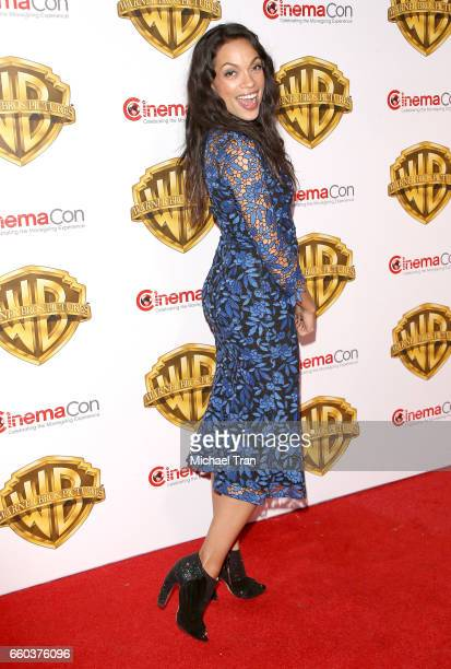 Rosario Dawson attends the CinemaCon 2017 Warner Bros Pictures presentation held at The Colosseum at Caesars Palace during CinemaCon the official...