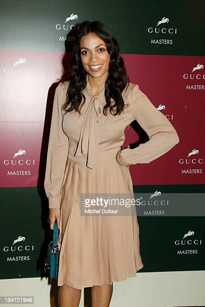 Rosario Dawson attends the International Gucci Masters Competition Day 2 on December 3 2011 in Villepinte France