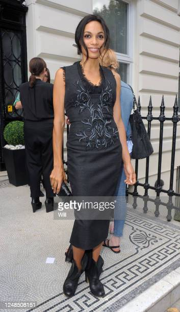 Rosario Dawson attends the Julien Macdonald show during London Fashion Week Spring/Summer 2012 on September 17 2011 in London England