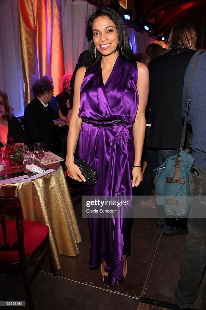 Rosario Dawson attends the Lambertz Monday Night at Alter Wartesaal on January 27, 2014 in Cologne, Germany.