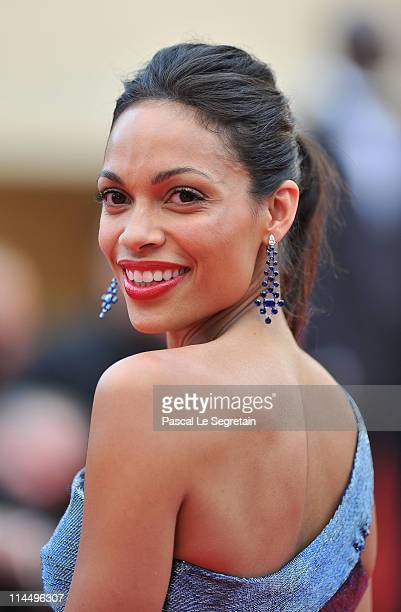 Rosario Dawson attends the 'Les BienAimes' premiere at the Palais des Festivals during the 64th Cannes Film Festival on May 22 2011 in Cannes France