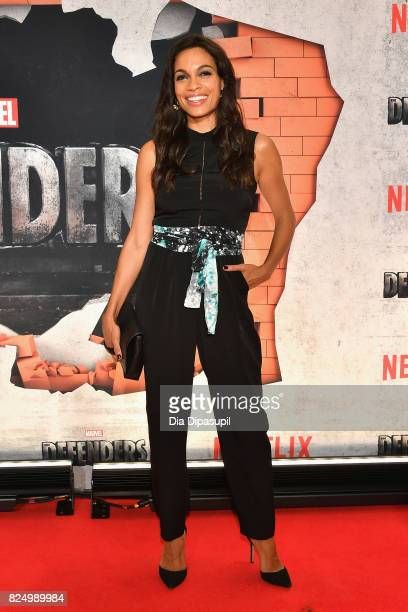 Rosario Dawson attends the Marvel's The Defenders New York Premiere at Tribeca Performing Arts Center on July 31 2017 in New York City
