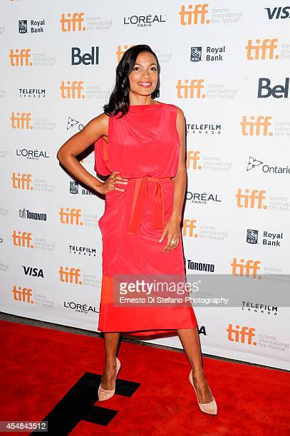 Rosario Dawson attends the premiere of Top Five at the Toronto International Film Festival at Princess of Wales Theatre on September 6 2014 in...