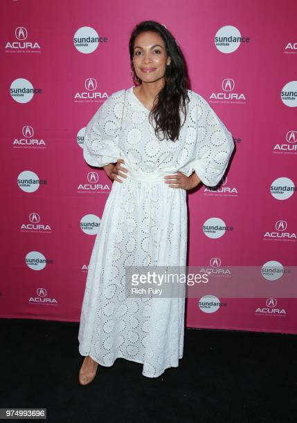 Rosario Dawson attends the Sundance Institute at Sundown Summer Benefit at the Ace Hotel on June 14 2018 in Los Angeles California