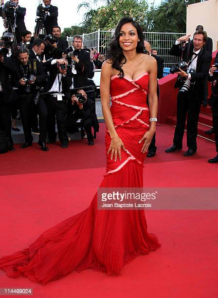 Rosario Dawson attends the 'This Must Be The Place' Premiere during the 64th Cannes Film Festival at Palais des Festivals on May 20 2011 in Cannes...