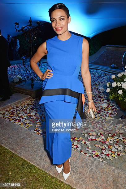 Rosario Dawson attends the welcome party for Puerto Azul Experience Night at Villa St George on May 21 2014 in Cannes France