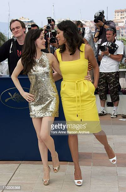 Rosario Dawson during 2007 Cannes Film Festival Death Proof Photocall at Palais des Festival in Cannes France