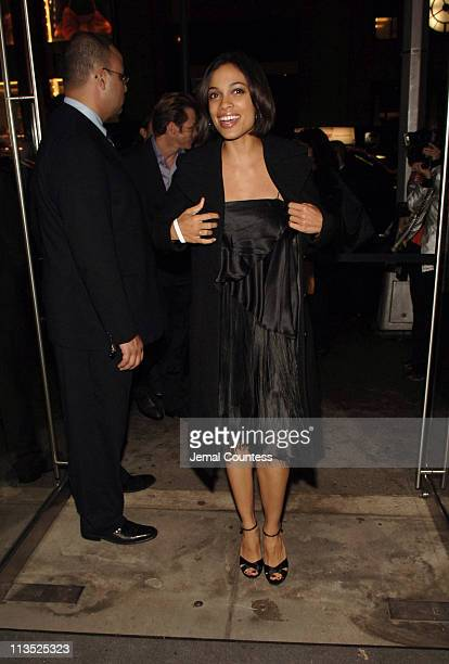 Rosario Dawson during Emporio Armani and Rosario Dawson Celebrate Voto Latino at Emporio Armani Boutique in New York City, New York, United States.