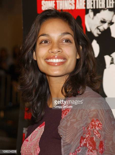 "Rosario Dawson during Los Angeles Premiere Of ""Confessions Of A Dangerous Mind"" at Mann Bruin Theatre in Westwood, California, United States."