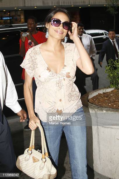 Rosario Dawson during Rosario Dawson Sighting in Times Square June 28 2006 at Times Square in New York New York United States