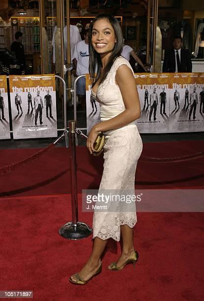 Rosario Dawson during The World Premiere Of 'The Rundown' at Universal Amphitheatre in Universal City CA United States