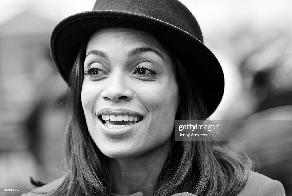 Rosario Dawson helps launch NESCAFE Dolce Gusto's 'Give With Gusto' program by spreading holiday cheer at the Winter Village at Bryant Park Ice Rink on December 2, 2014 in New York City.