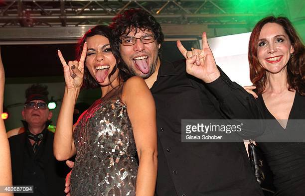 Rosario Dawson her brother Clay Dawson during the Lambertz Monday Night 2015 at Alter Wartesaal on February 2 2015 in Cologne Germany
