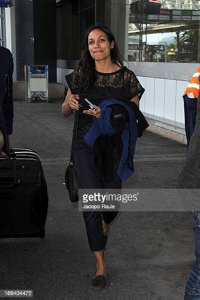 Rosario Dawson is seen arriving at Nice airport during The 66th Annual Cannes Film Festival on May 24 2013 in Nice France