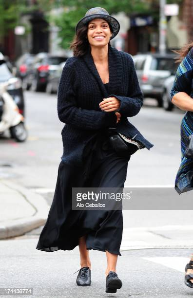 Rosario Dawson is seen in the East Village on July 25 2013 in New York City