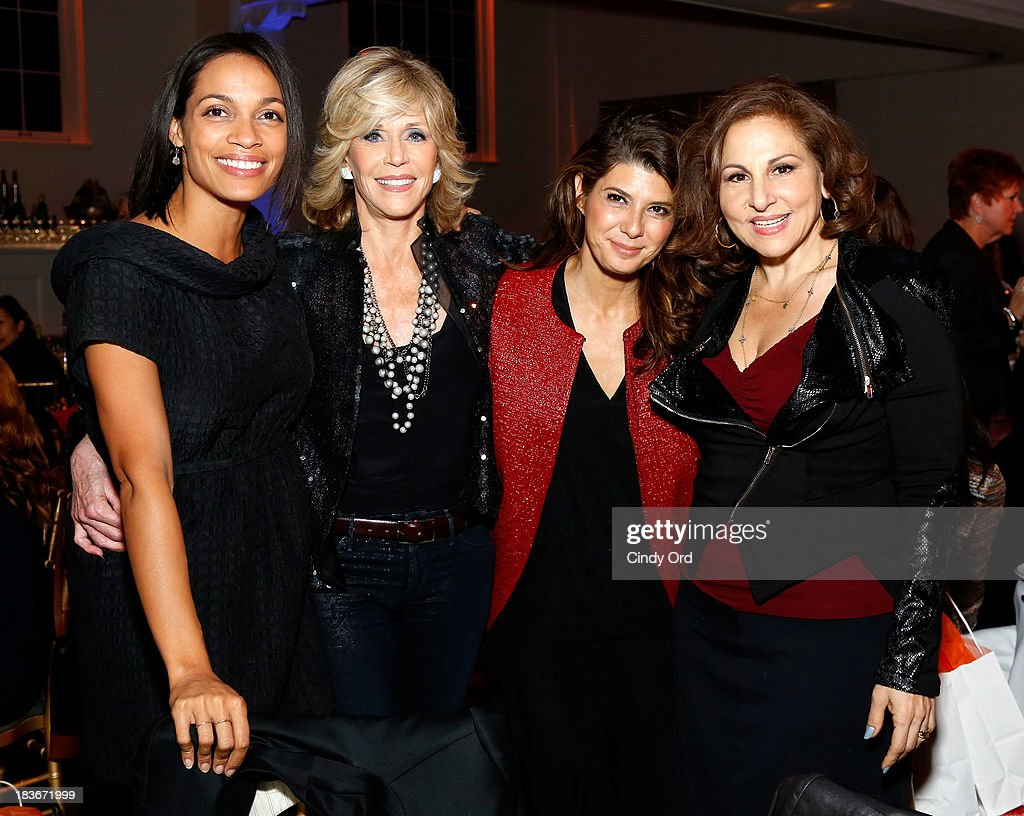 Rosario Dawson, Jane Fonda, Marisa Tomei and Kathy Najimy attend the 2013 Women's Media Awards on October 8, 2013 in New York City.