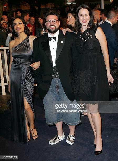 Rosario Dawson Kevin Smith and Jennifer Schwalbach Smith